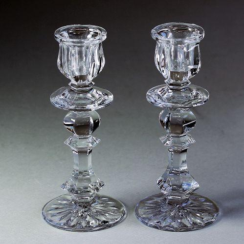 Pair Glass Candlesticks
