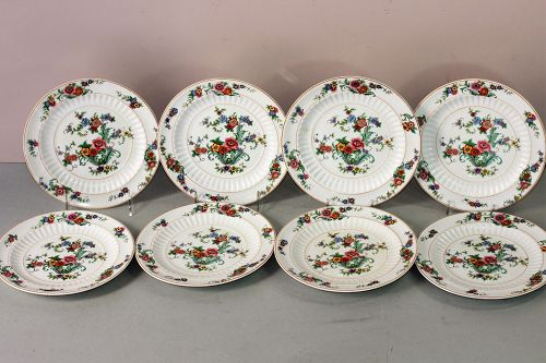 Eight(8) American K T & K China Dessert Plates
