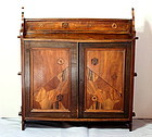 Japanese Marquetry inlaid Hanging Cabinet with Door