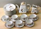 French PHL Depose Porcelain tea set, 26 pieces