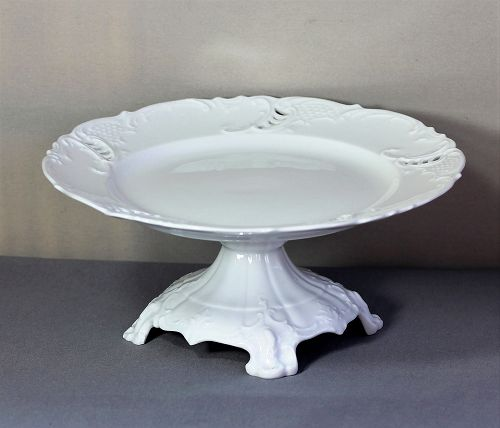 German Royal Nymphenburg Porcelain Cake Stand