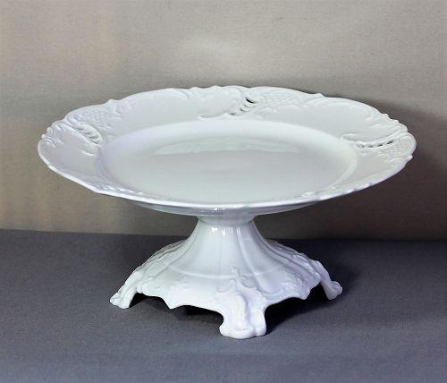 German Royal Nymphenburg Porcelain Cake Stand