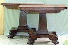 Pr. American Empire Period Mahogany Card Tables