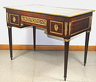 French Louise XVI style Dore Bronze mounted large Desk