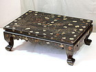 Korean Lacquer Shark skin, Shell Inlaid  Dragon, Phoenix table