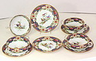 """English Shelley Porcelain """"Old Sevres"""" Cream Soup Bowl and Saucer(4)"""