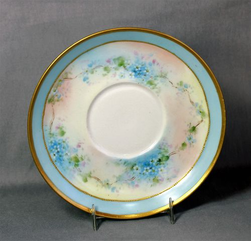 European Hand painted Porcelain Saucer