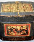 Chinese painted Wood Storage Box or Trunk