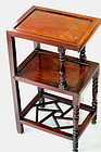 Chinese Rosewood heavy weight three(3) tier Table