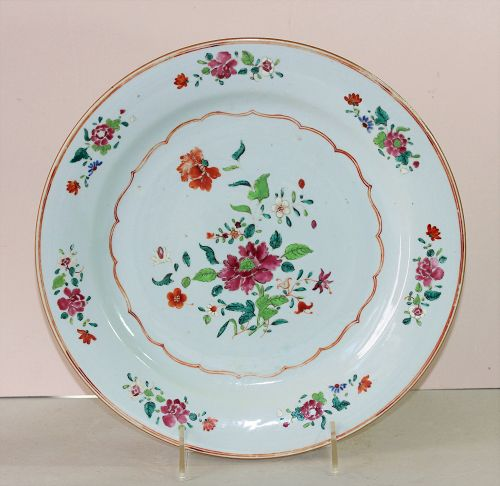 Chinese Export Famille Rose Porcelain Charger, 19th C.