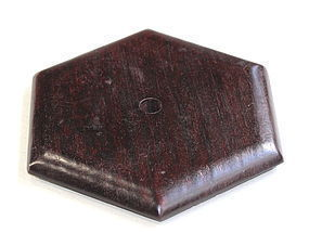 Hong Kong made Hardwood Hexagonal Lamp Top/Cover