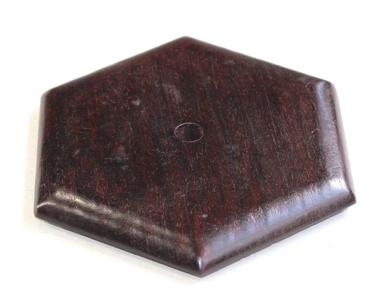 Hong Kong made Hardwood Hexagonal shape Lamp Top/Cover