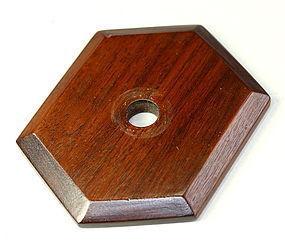 Chinese Custom made Rosewood Hexagonal shape Lamp Top/Cover