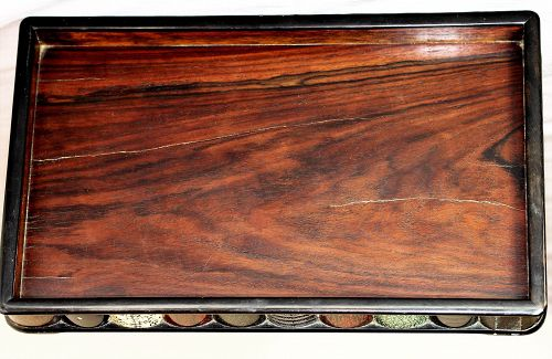 Japanese Sword Scabbard Keyaki Wood Tray, total 32 Scabbard