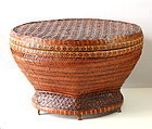 Chinese Bamboo woven basket and tray for Tea Leaf
