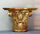 Gold leaf on wood carved Corinthian style Wall Bracket or Shelf