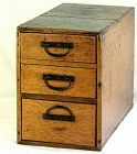 Japanese Merchant Box with 3 drawers, 19th C.
