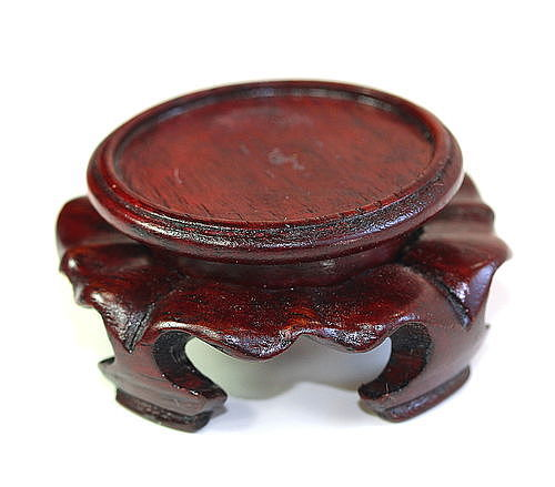 Chinese carved Hardwood tiny Display Stand