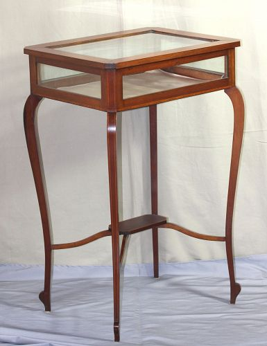American Federal style Vitrine Table, Mahogany with satinwood inlaid