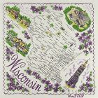 STATE SOUVENIR HANKY, WISCONSIN, �THE BADGER STATE�