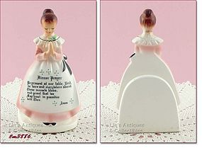 ENESCO � PRAYER LADY NAPKIN HOLDER