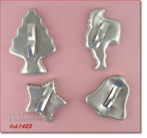 ALUMINUMWARE � 4 CHRISTMAS COOKIE CUTTERS