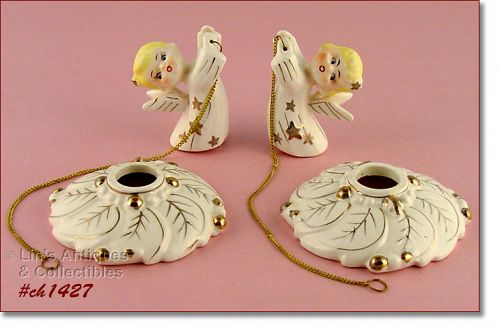 CANDLEHOLDERS WITH CLIMBERS (MINT IN BOX)