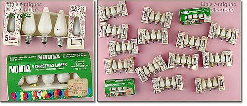 WHITE C-6 SIZE BULBS IN ORIGINAL BOX /PACKAGE