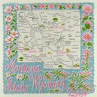 STATE SOUVENIR HANKY, MONTANA, IDAHO, WYOMING