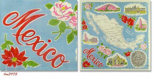 SOUVENIR HANDKERCHIEF, MEXICO