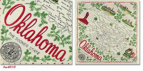 STATE SOUVENIR HANKY, OKLAHOMA �THE SOONER STATE�