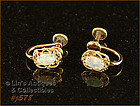VAN DELL OPAL GOLD FILLED EARRINGS