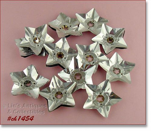 2 DOZEN STAR SHAPED ALUMINUM REFLECTORS