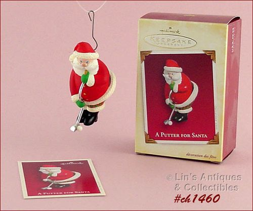 HALLMARK � �A PUTTER FOR SANTA� ORNAMENT