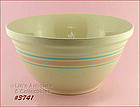 McCOY POTTERY � PINK AND BLUE 14� BOWL