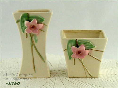 McCOY POTTERY � BLOSSOM TIME VASE AND PLANTER