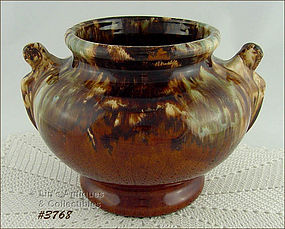 McCOY POTTERY � BROWN ONXY JARDINIERE