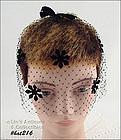 BLACK VEIL HEAD COVERING / HAT