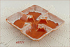 McCOY POTTERY � SQUARE SECTIONAL ASH TRAY