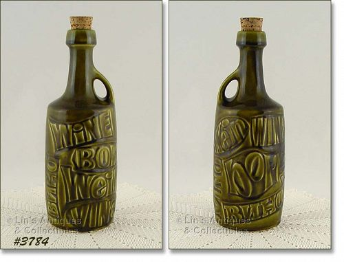 McCOY POTTERY � WINE BOTTLE