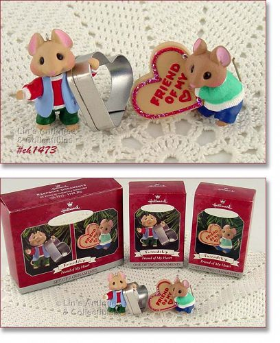 HALLMARK � �FRIEND OF MY HEART� (2 ORNAMENTS)