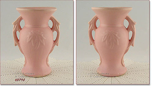 McCOY POTTERY � 9� PEACH/PINK COLOR VASE