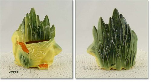 McCOY POTTERY � DUCK AND LEAVES PLANTER