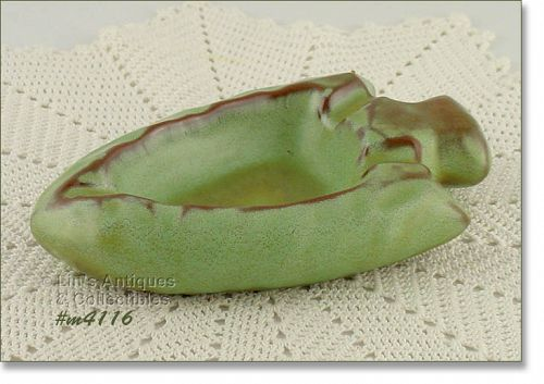FRANKOMA POTTERY � ARROWHEAD ASHTRAY (PRAIRIE GREEN)