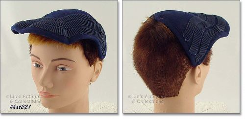 NAVY BLUE HAT BY CAPRICE, NEW YORK
