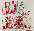 ONE DOZEN CHRISTMAS HANDKERCHIEFS