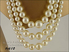 VINTAGE GORGEOUS 3 STRAND FAUX PEARL NECKLACE