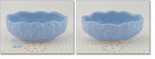 McCOY POTTERY � BUTTERFLY LINE SMALL FERN BOX (BLUE)