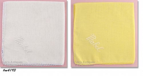 TWO HANDKERCHIEFS FOR �MABEL�