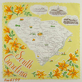 STATE SOUVENIR HANKY, SOUTH CAROLINA